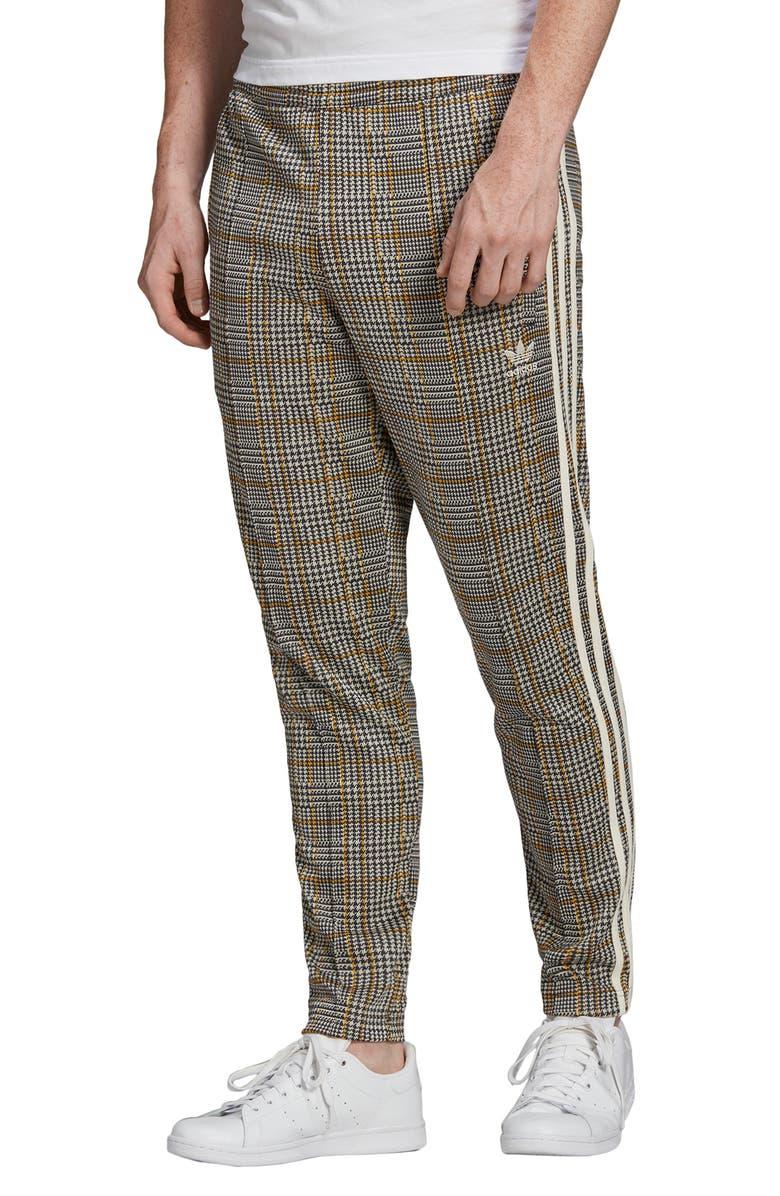 ADIDAS ORIGINALS Adicolor Tartan Track Pants, Main, color, MULTICOLOR/ WHITE
