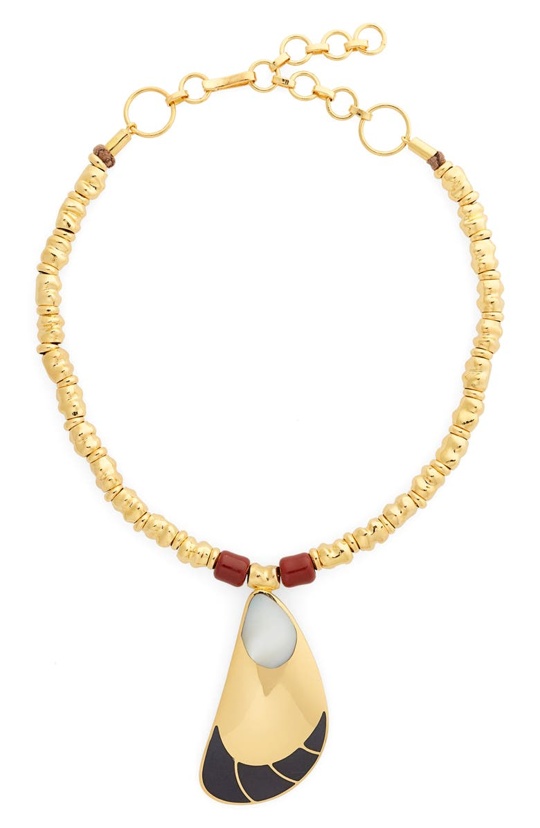 MONICA SORDO Garzon Semiprecious Stone Pendant Necklace, Main, color, BLACK ONYX/MOTHER OF PEARL