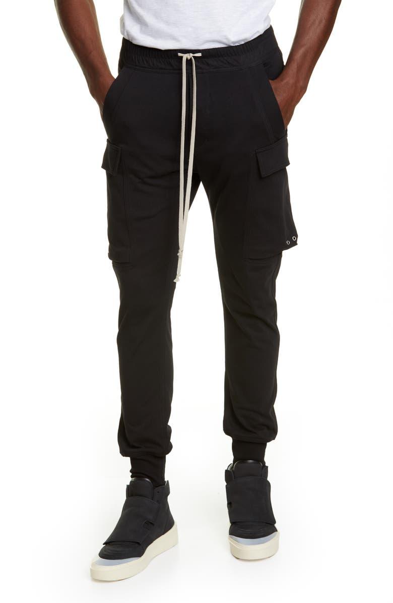 RICK OWENS Cargo Jogger Pants, Main, color, BLACK