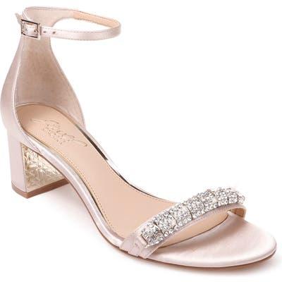 Jewel Badgley Mischka Ramsay Ankle Strap Sandal- Beige