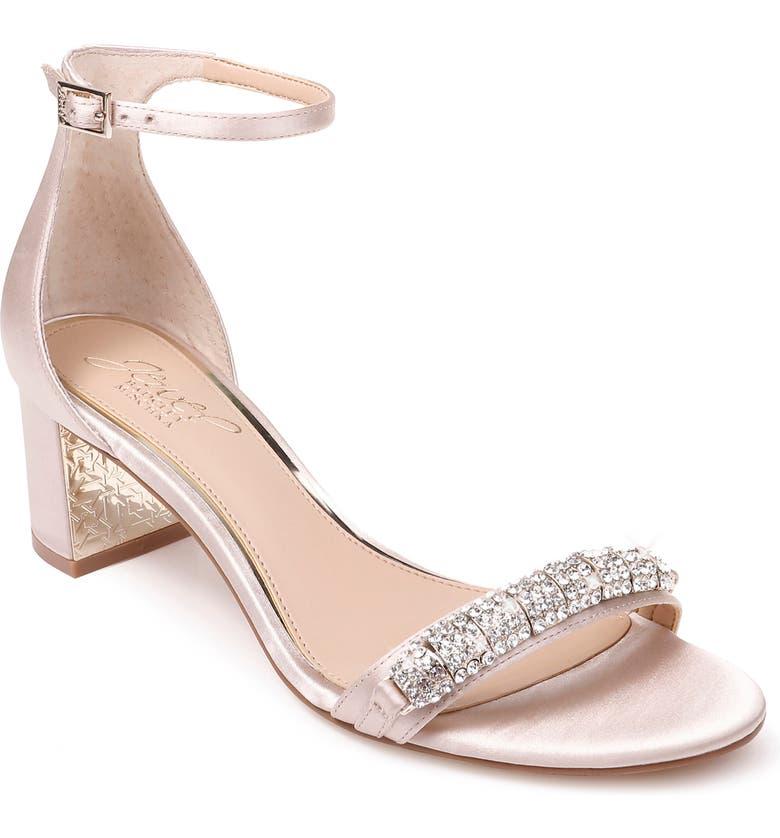JEWEL BADGLEY MISCHKA Ramsay Ankle Strap Sandal, Main, color, CHAMPAGNE SATIN