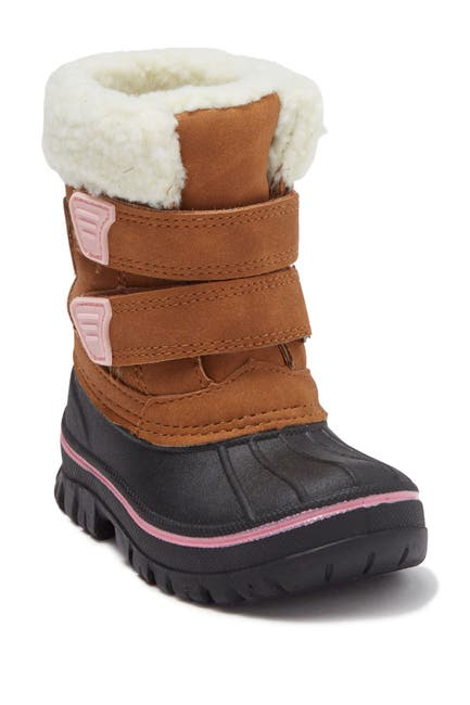 Image of Joe Fresh Oitaa Faux Fur Hook-And-Loop Boot