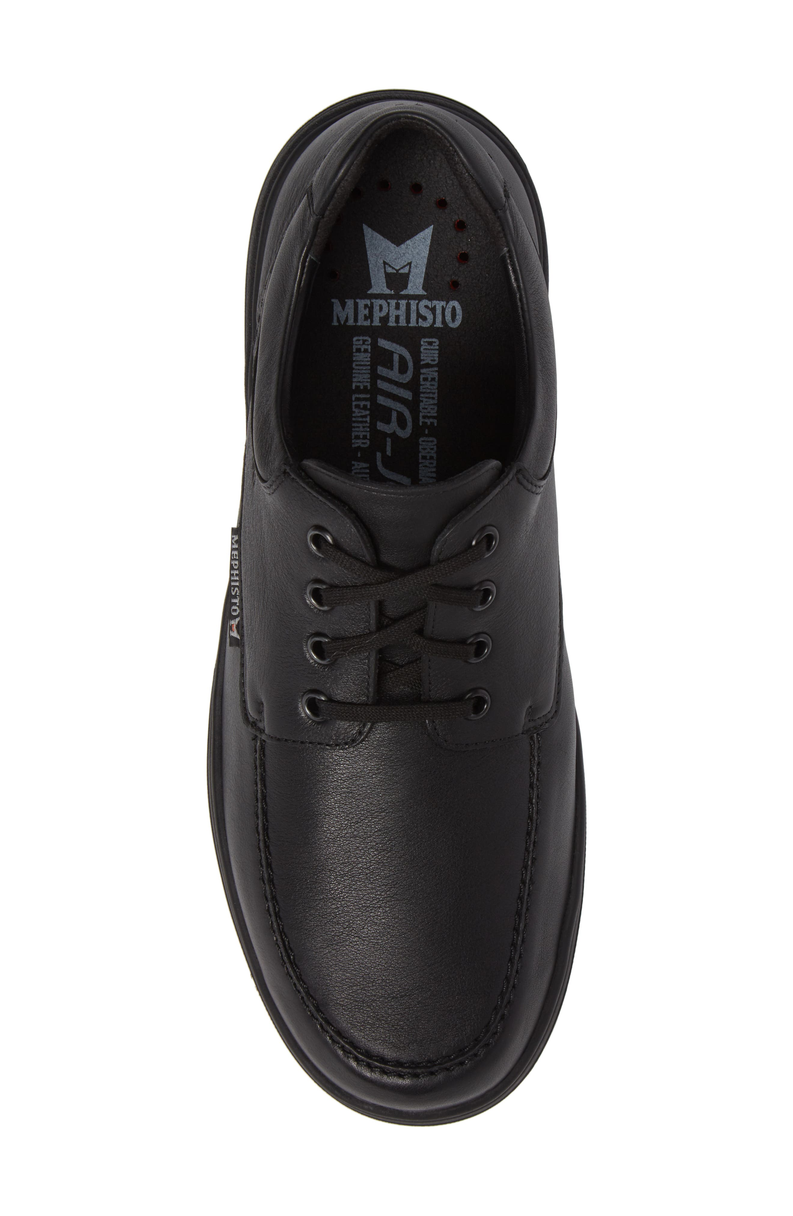 ,                             Douk HydroProtect Waterproof Moc Toe Derby,                             Alternate thumbnail 5, color,                             BLACK CALFSKIN