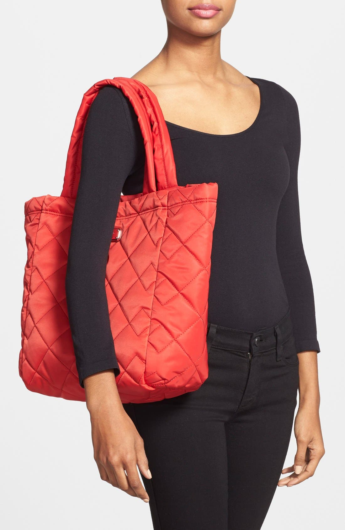 ,                             MARC BY MARC JACOBS 'Crosby' Quilted Nylon Tote,                             Alternate thumbnail 17, color,                             600