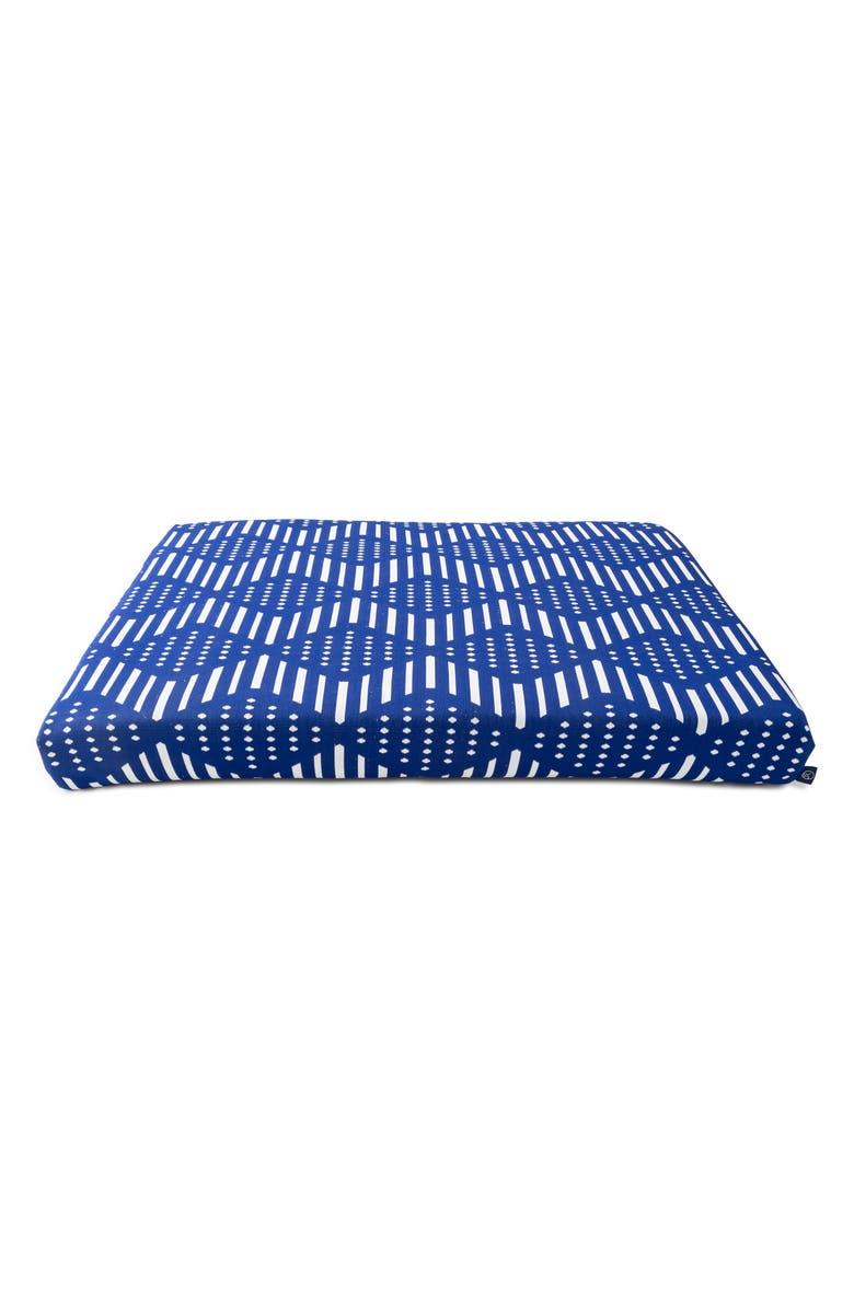 LAYLO PETS Blue Bogolan Dog Bed, Main, color, BLUE BOGOLAN