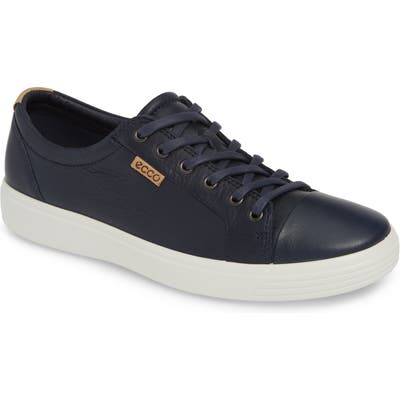 Ecco Soft Vii Lace-Up Sneaker, Blue