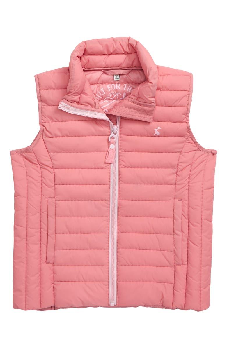 JOULES Croft Packable Quilted Vest, Main, color, CHRBLSM