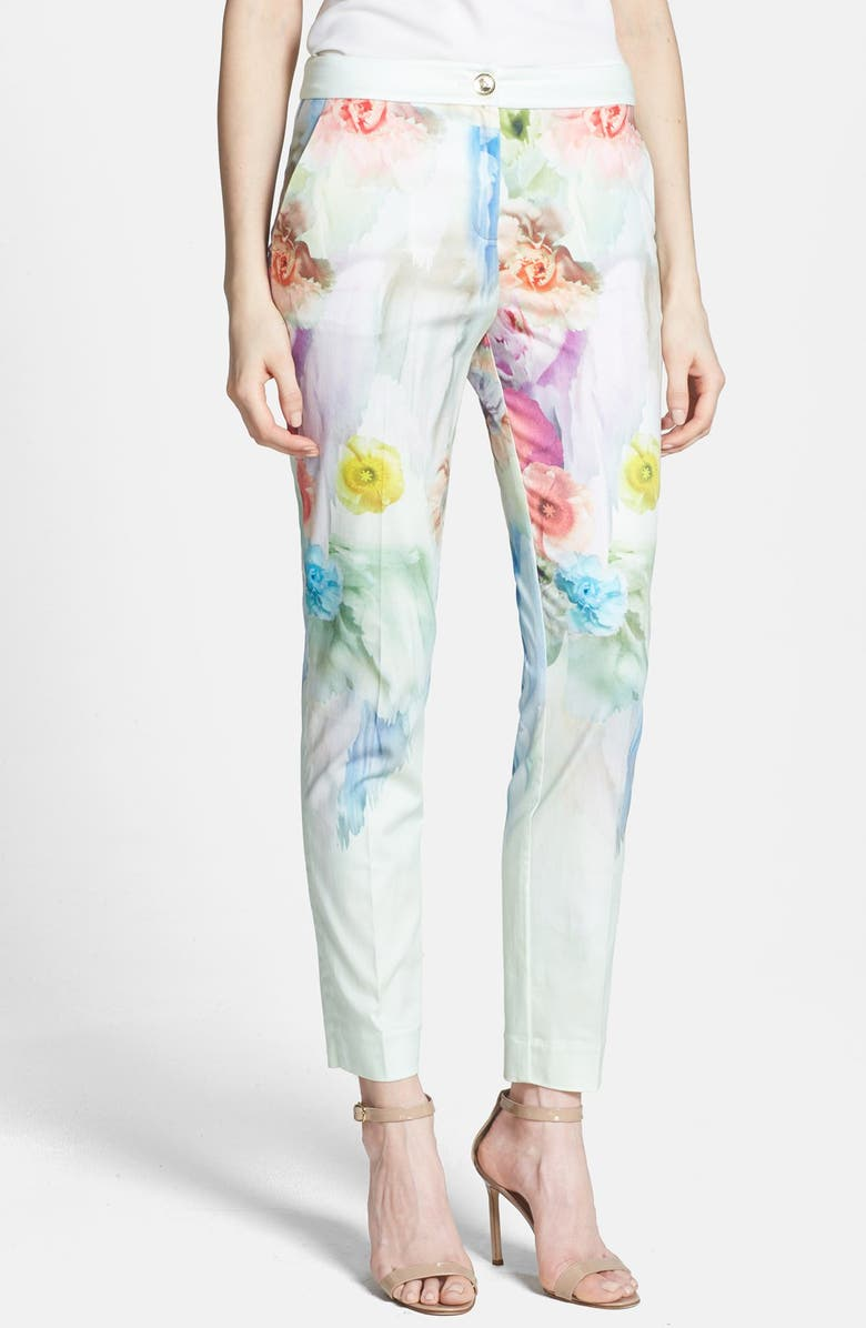 TED BAKER LONDON 'Avalyn - Sugar Sweet' Floral Print Trousers, Main, color, 332
