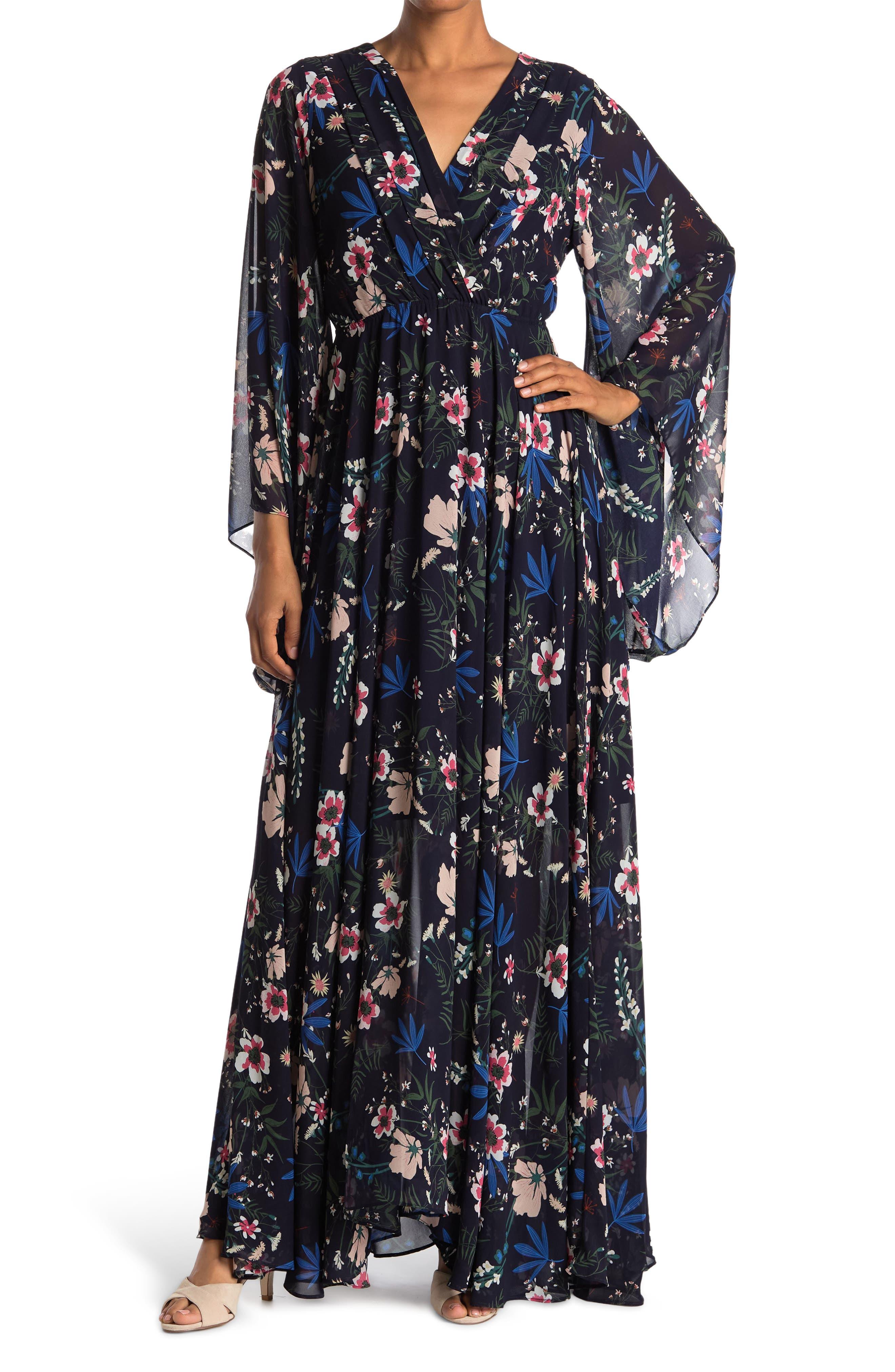 70s Prom, Formal, Evening, Party Dresses Meghan LA Sunset Maxi Dress Size XL - Navy1 at Nordstrom Rack $109.97 AT vintagedancer.com
