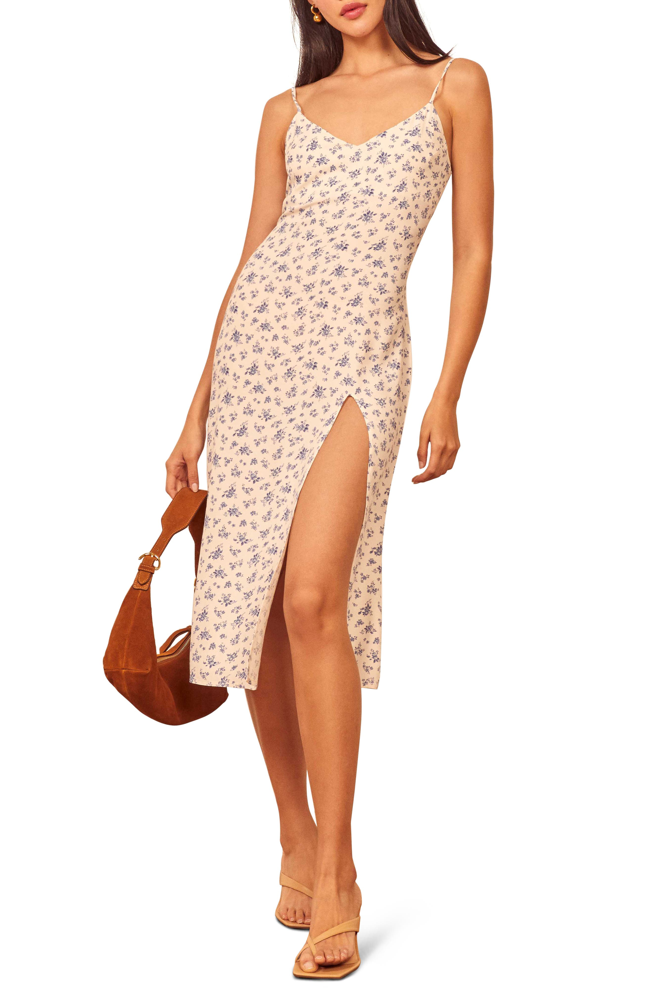 Slipdress style adds a sassy slit in a breezy dress that\\\'s ready for your sunny-season adventures. Style Name: Reformation Crimini Slipdress (Nordstrom Exclusive). Style Number: 5727426 6. Available in stores.