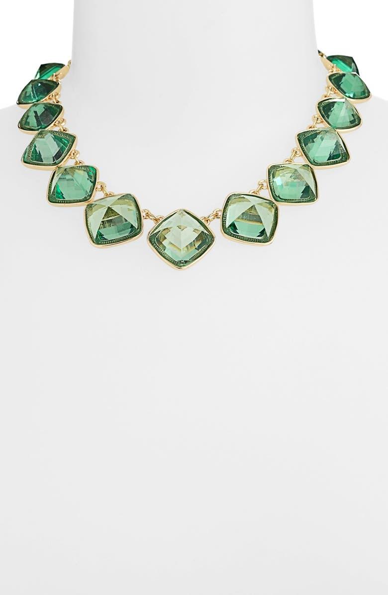 ANNE KLEIN Stone Collar Necklace, Main, color, 300