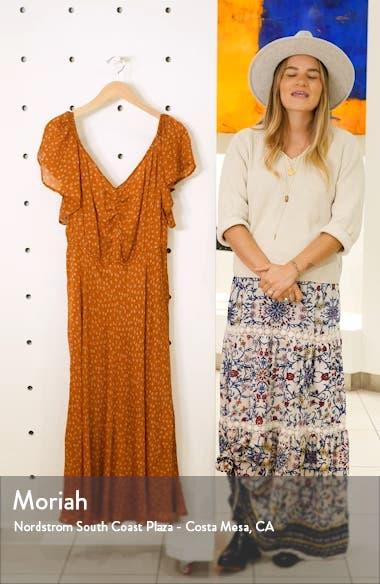 Falbala Floral Silk Maxi Dress, sales video thumbnail