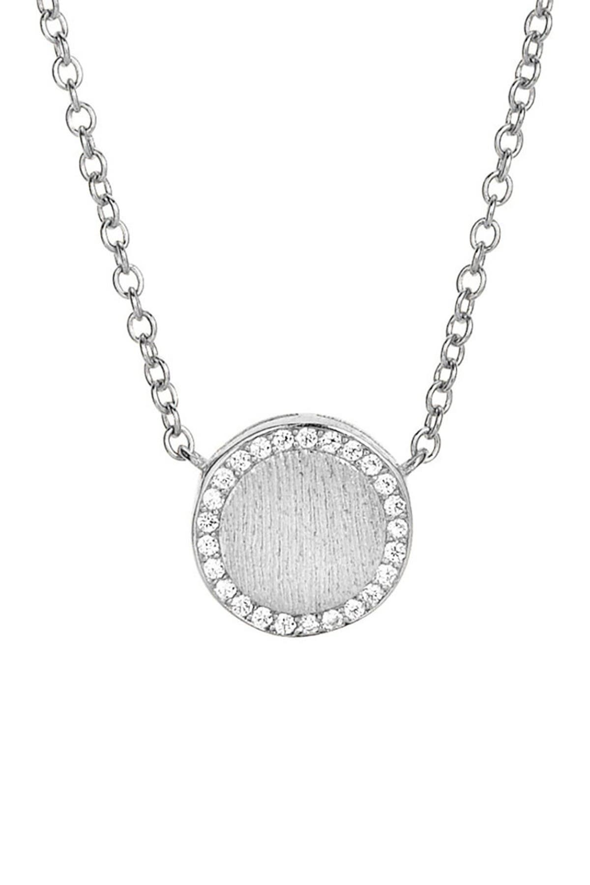 Image of Savvy Cie Sterling Silver CZ Halo Necklace