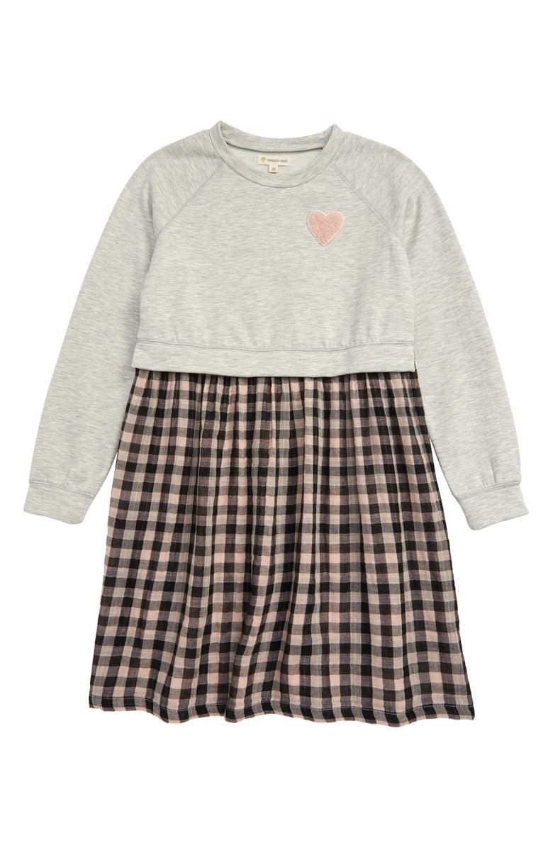 TUCKER + TATE Kids' Varsity Long Sleeve Dress, Main, color, 050