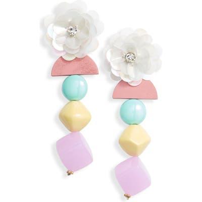 Knotty Floral Drop Earrings