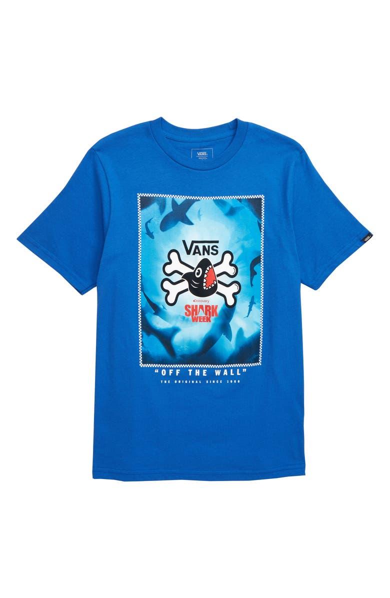 VANS x Shark Week Graphic T-Shirt, Main, color, ROYAL BLUE