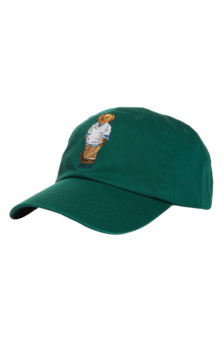 POLO RALPH LAUREN Bear Twill Baseball Cap, Main, color, 300