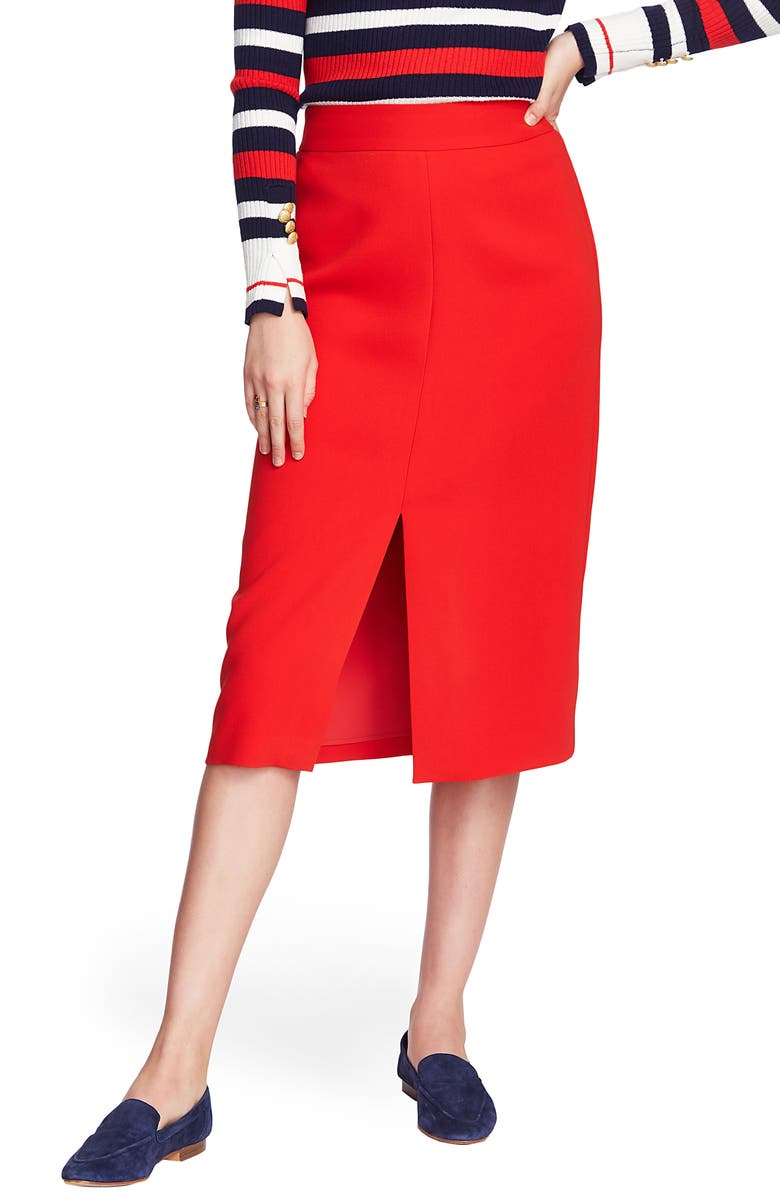 COURT & ROWE Front Slit Crepe Pencil Skirt, Main, color, 620