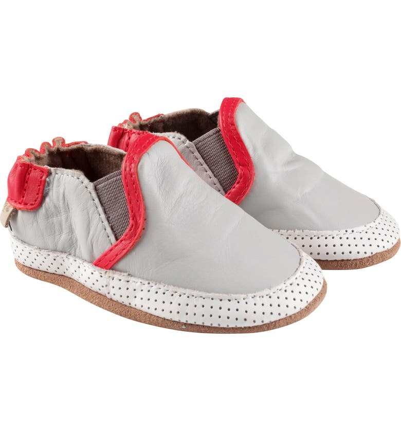 ROBEEZ<SUP>®</SUP> Liam Slip-On Crib Sneaker, Main, color, GREY