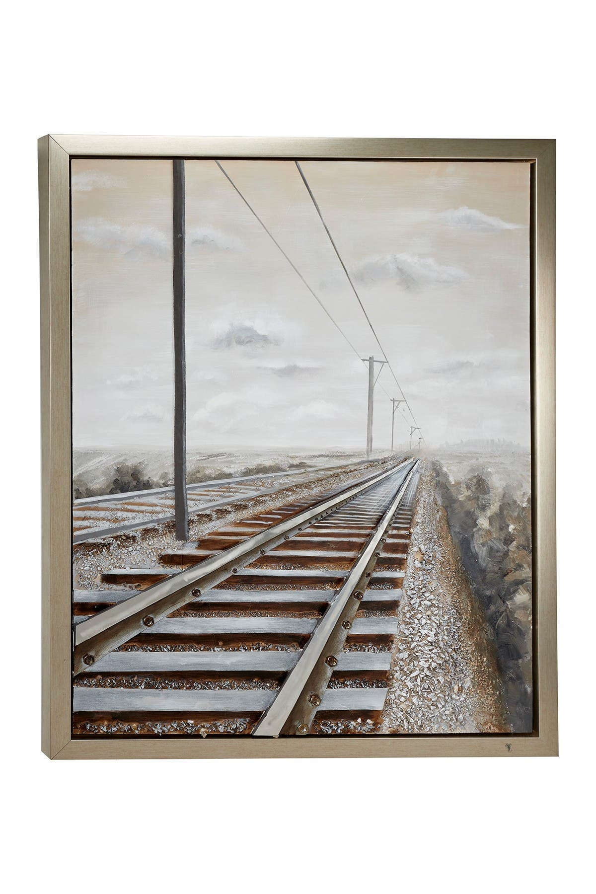 Willow Row Large Industrial Style 3D Railroad Metal Wall Art - 43.5\\\