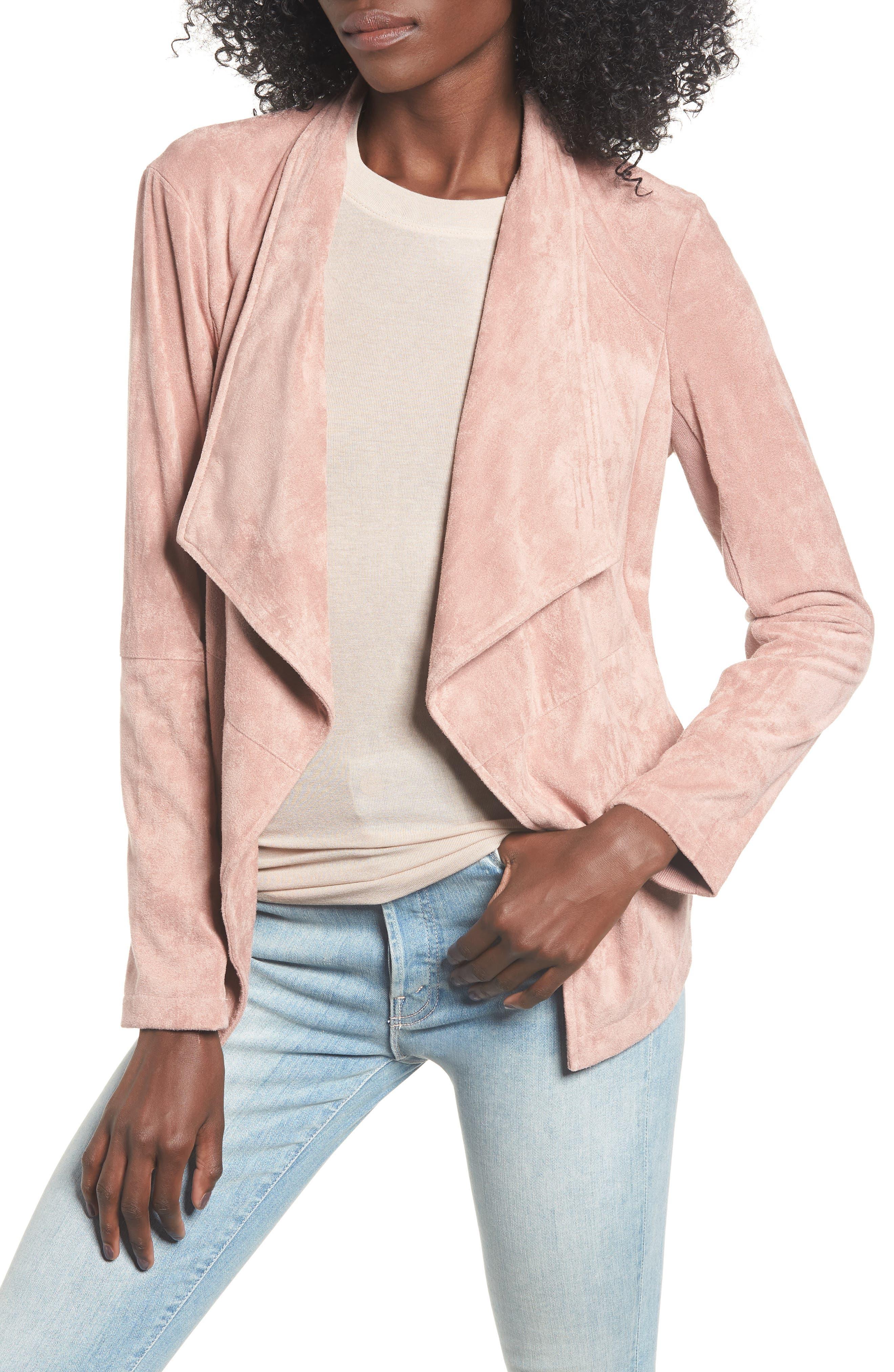,                             Nicholson Faux Suede Drape Front Jacket,                             Main thumbnail 52, color,                             651