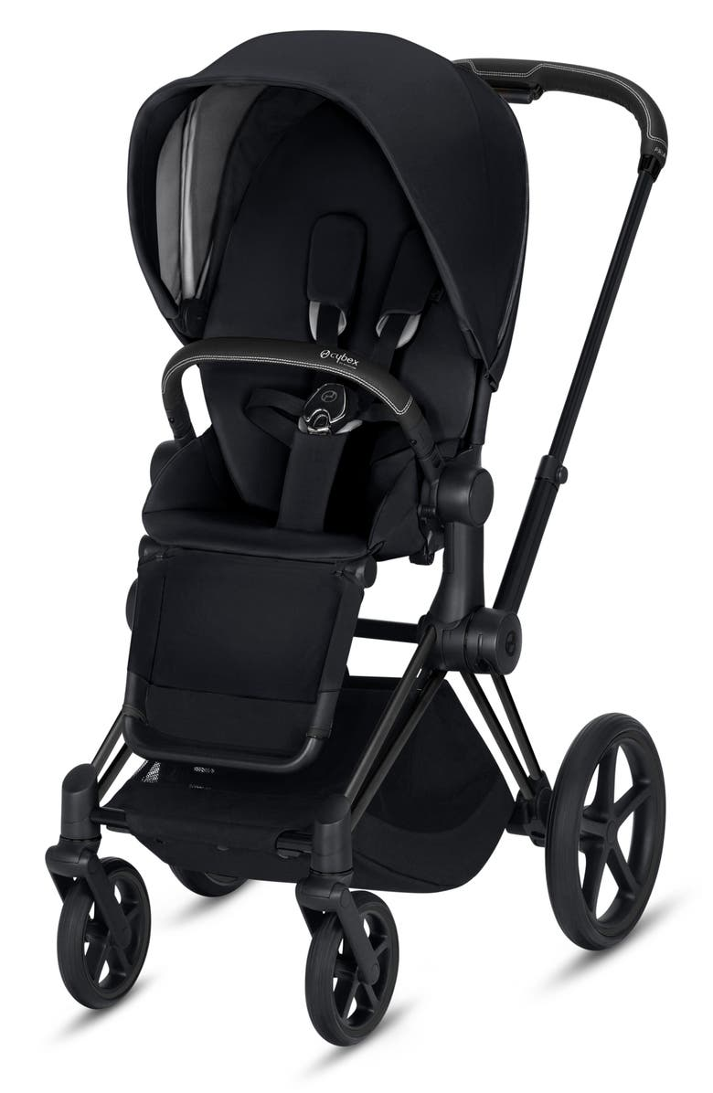 CYBEX Priam One Box Stroller with All Terrain Wheels, Main, color, BLACK