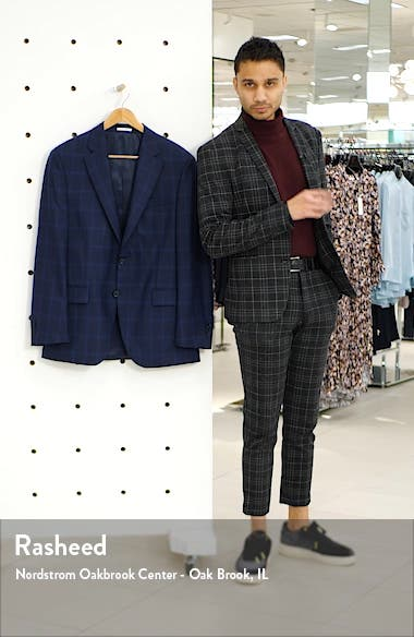 Classic Fit Windowpane Wool Sport Coat, sales video thumbnail