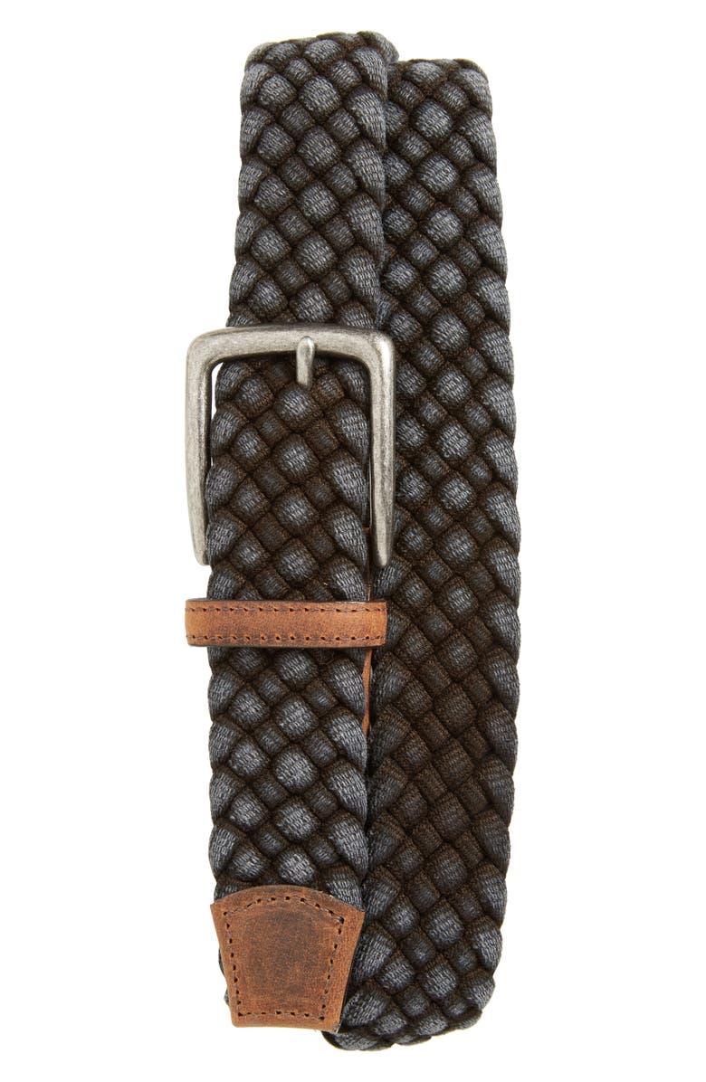 TORINO Woven Cotton Belt, Main, color, BLACK