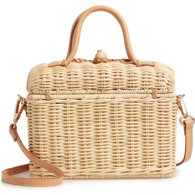 Ulla Johnson Woven Rattan Top Handle Bag -