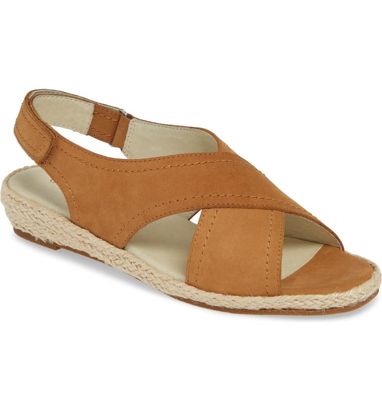 DAVID TATE Moon Sandal, Main, color, TAN NUBUCK LEATHER