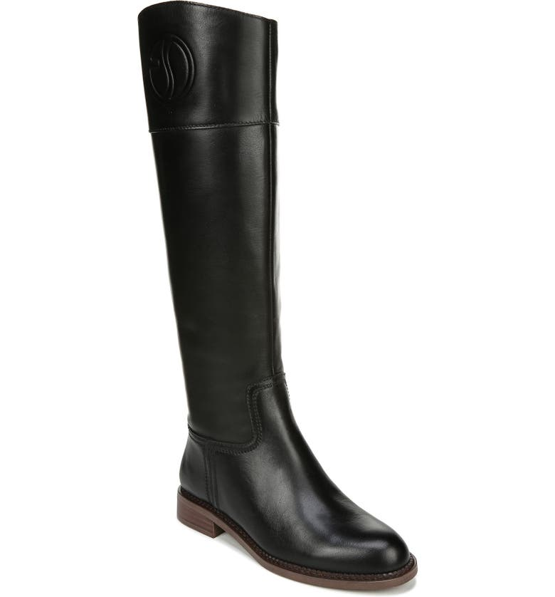 FRANCO SARTO Hudson Riding Boot, Main, color, BLACK LEATHER