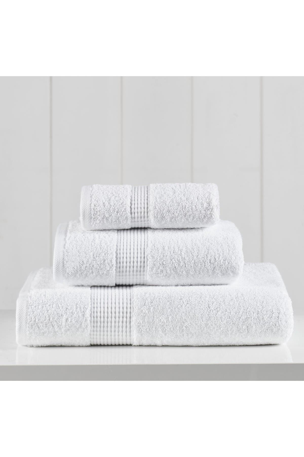 Image of Modern Threads Manor Ridge Turkish Cotton 3-Piece Towel Set - White