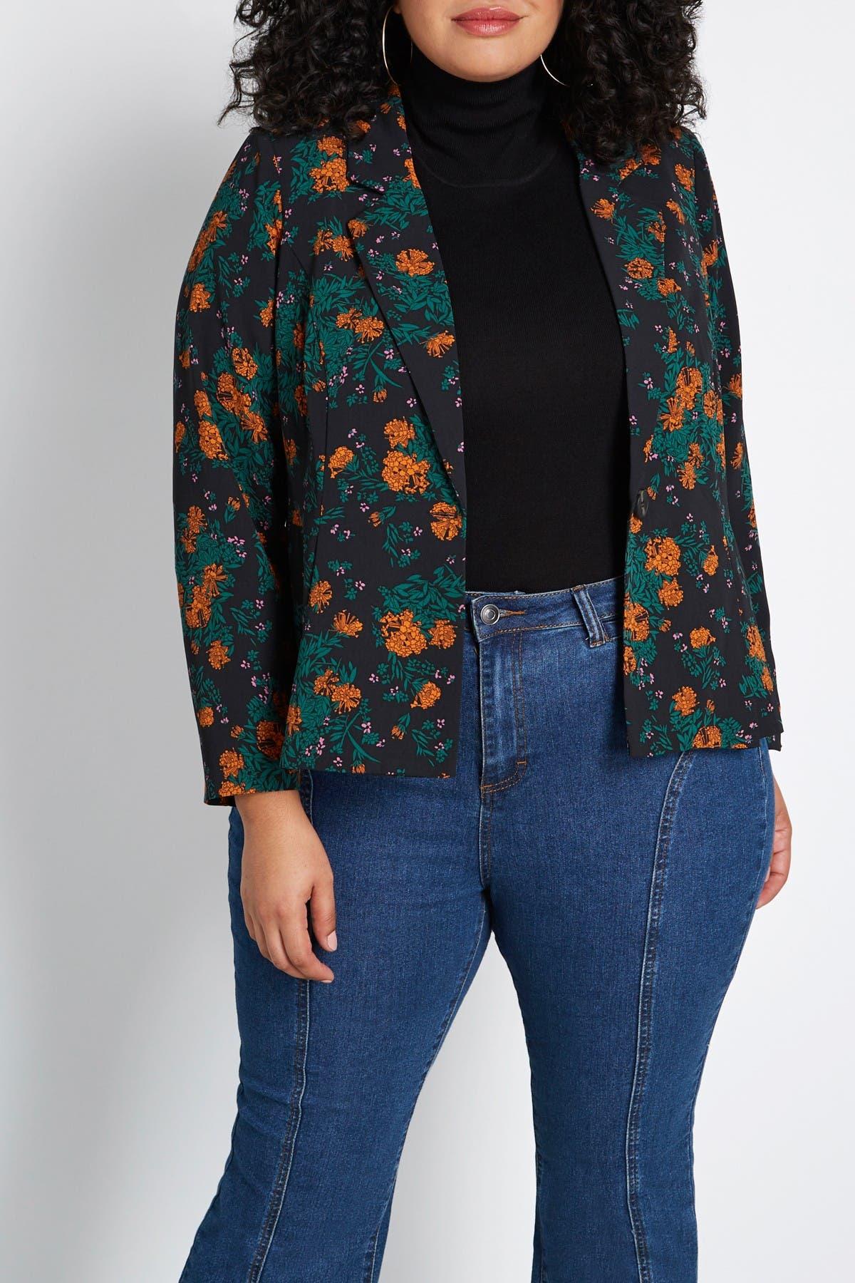 Image of MODCLOTH Business Savvy Floral Peplum Blazer