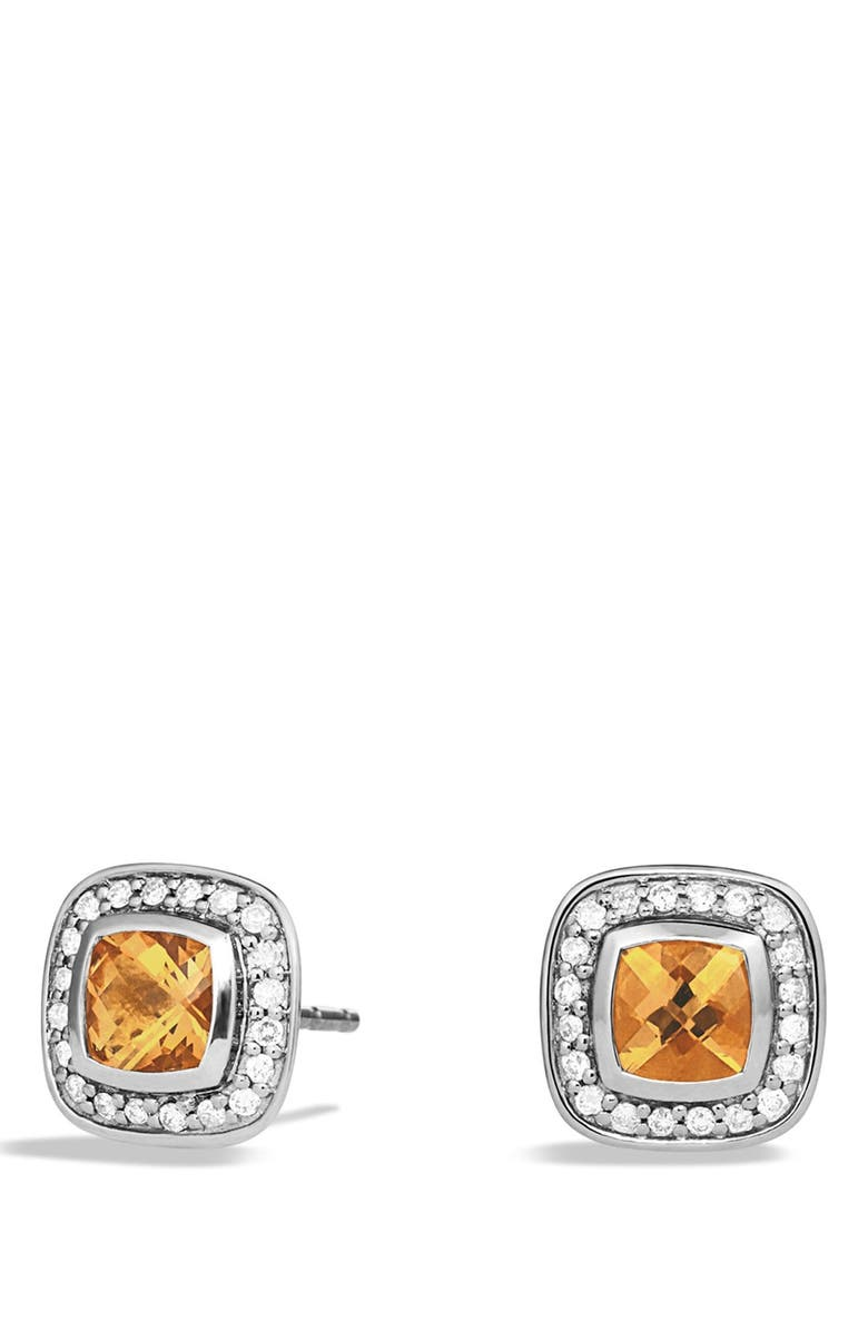 DAVID YURMAN Albion Petite Earrings with Diamonds, Main, color, CITRINE