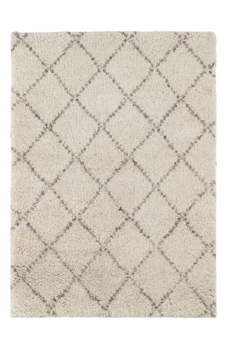 DASH & ALBERT Nala Hand Knotted Wool Blend Rug, Main, color, IVORY