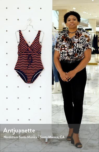 Sea Swell Stripe One-Piece Swimsuit, sales video thumbnail