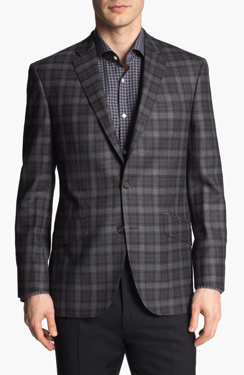 TED BAKER LONDON 'Jones' Trim Fit Plaid Sportcoat, Main, color, 020