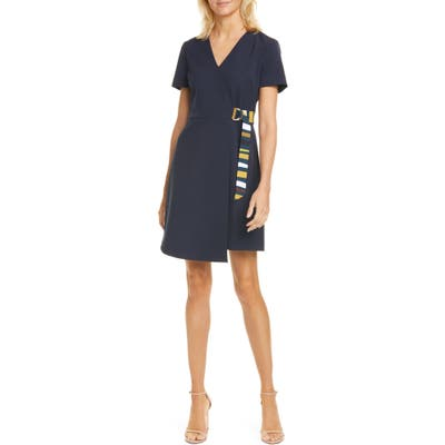 Ted Baker London Florry V-Neck Wrap Front Jersey Dress, (fits like 0-2 US) - Blue