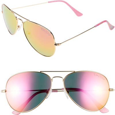 Lilly Pulitzer Lexy 5m Polarized Aviator Sunglasses - Pink