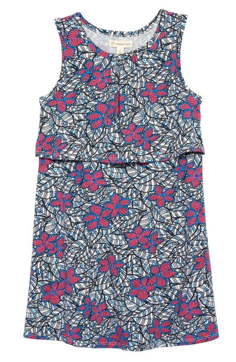 TUCKER + TATE Popover Floral Print Tank Dress, Main, color, 900