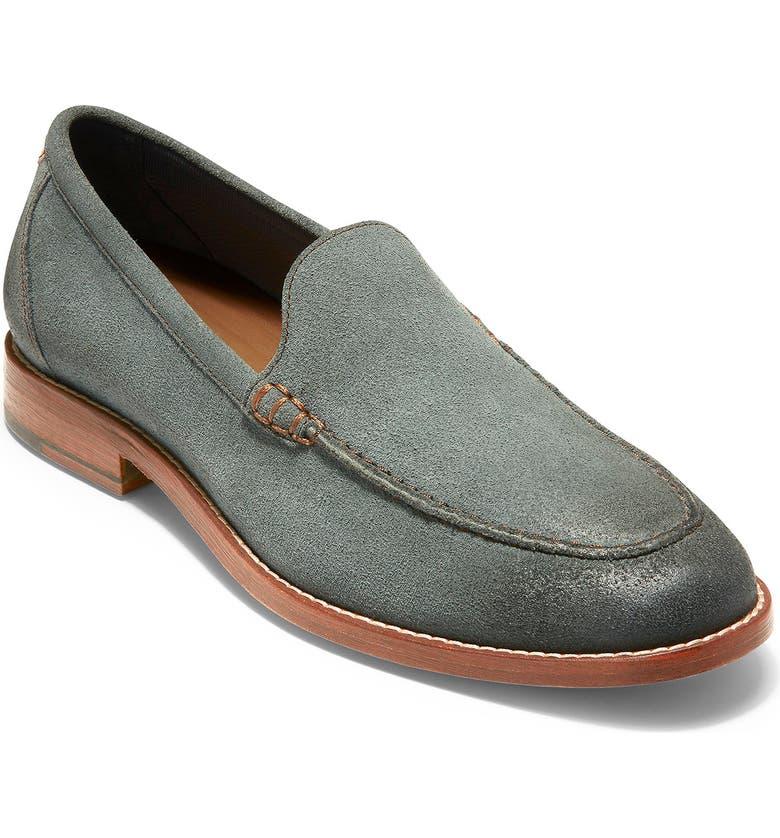 COLE HAAN Feathercraft Grand Venetian Loafer, Main, color, SEDONA SAGE SUEDE