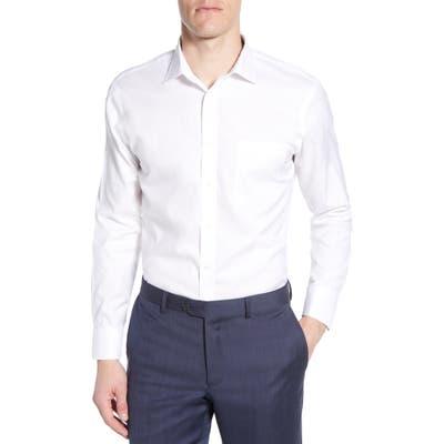 Nordstrom Shop Smartcare(TM) Trim Fit Solid Dress Shirt, 5 32/33 - White