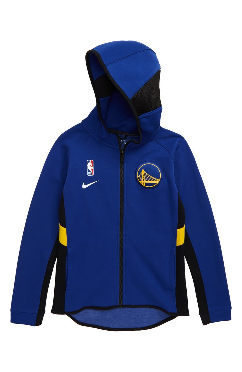 NIKE NBA Golden State Warriors Dry Zip Hoodie, Main, color, RUSH BLUE