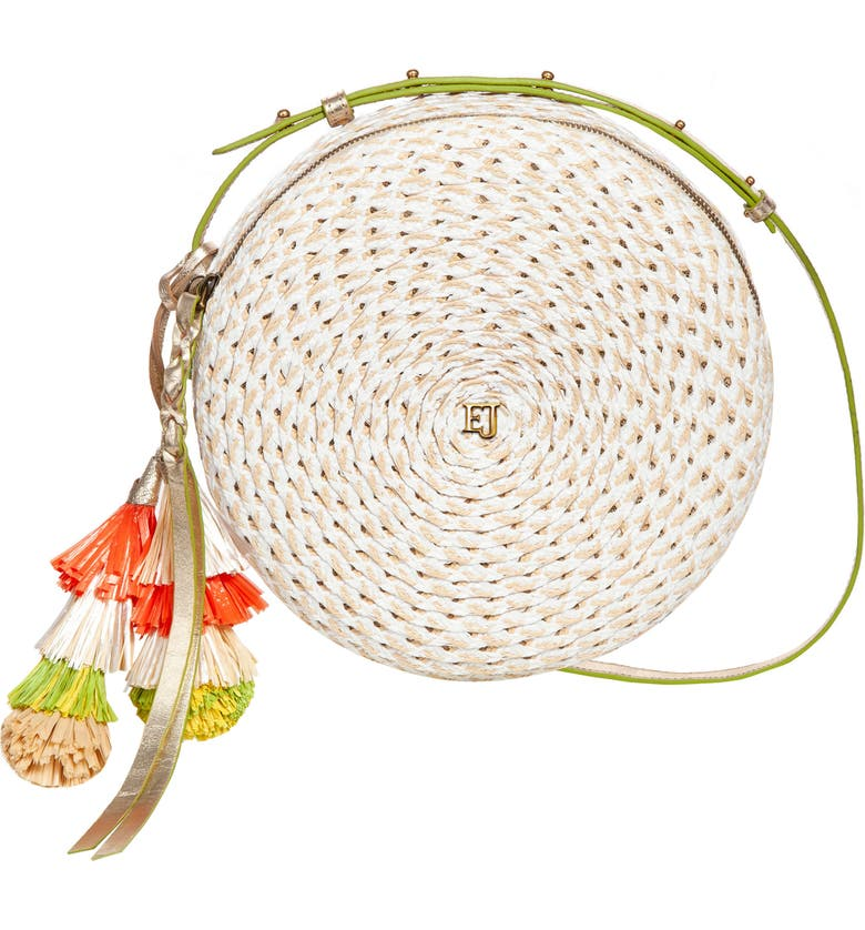 ERIC JAVITS Squishee<sup>®</sup> Bali Crossbody Bag, Main, color, WHITE MIX