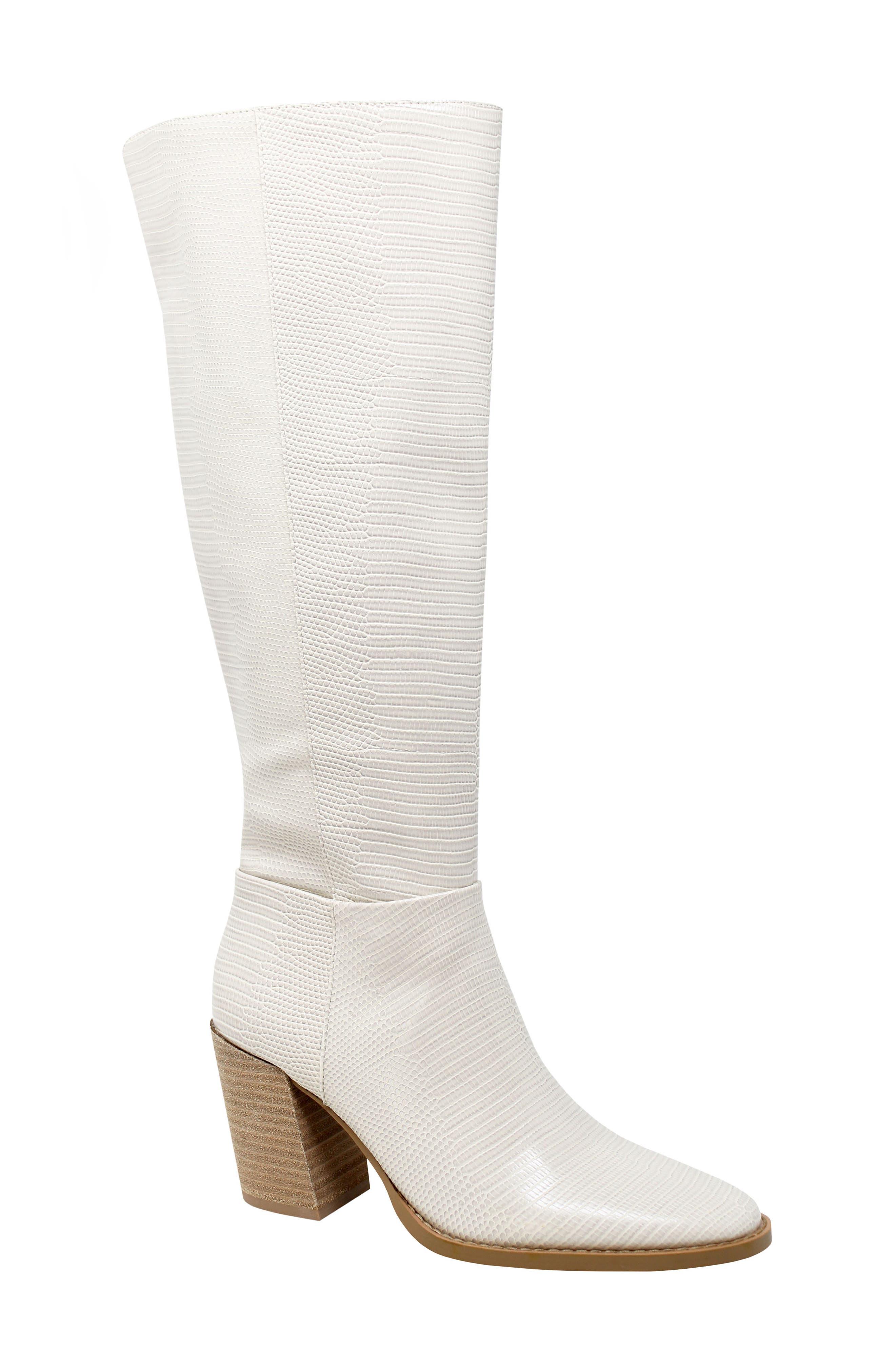 Women's Charles David Softie Lizard Embossed Knee High Boot
