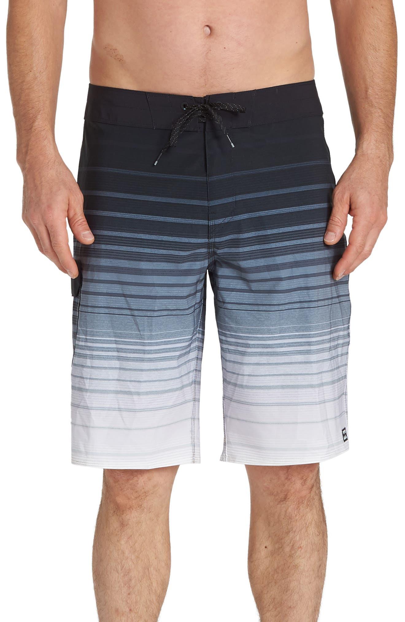 Billabong All Day Stripe Pro Board Shorts, Black