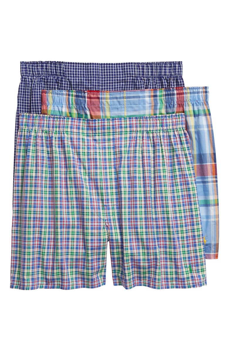 POLO RALPH LAUREN 3-Pack Woven Boxers, Main, color, DENNIS/ DALTON/ WILLIAM