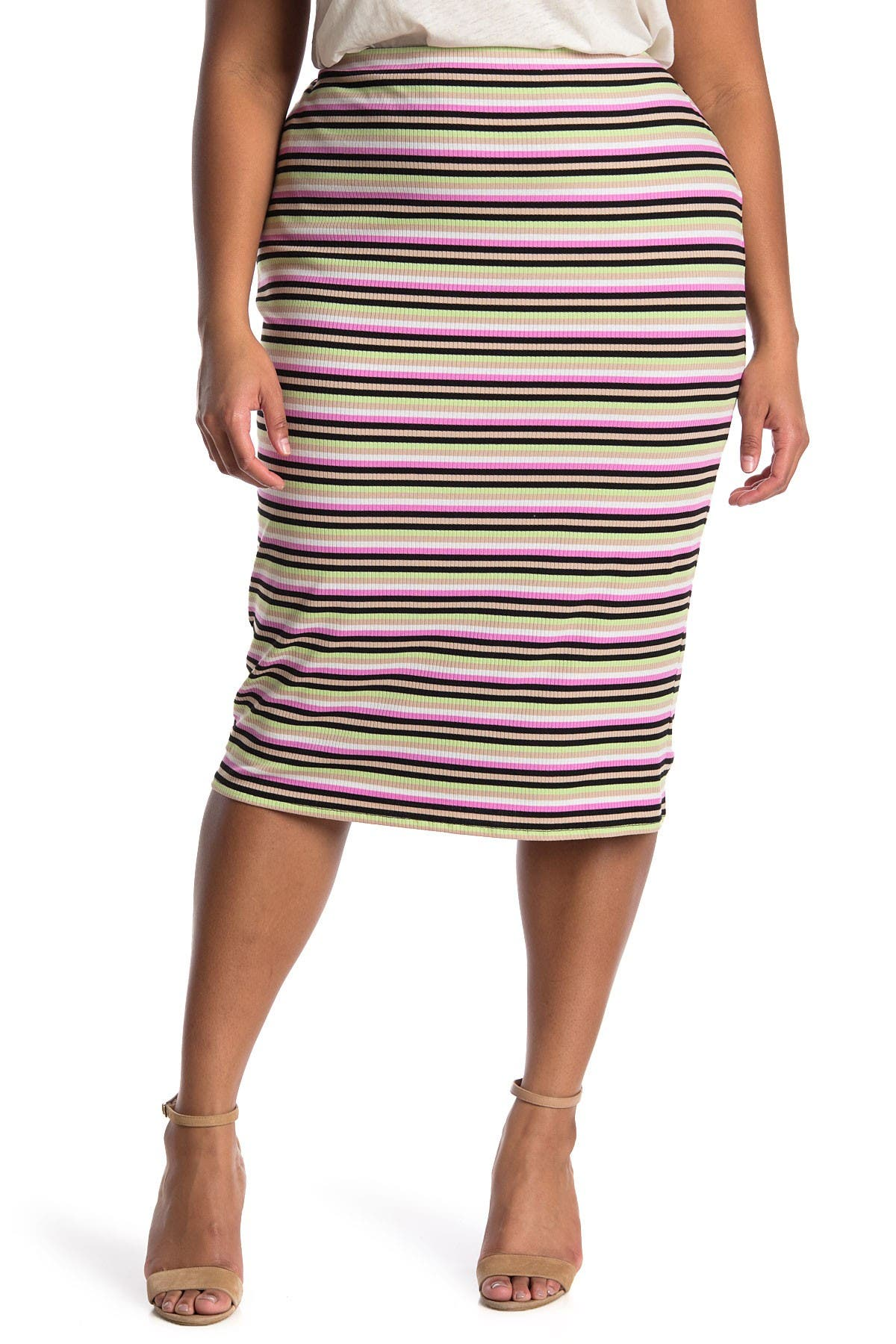 Image of AFRM Port Ribbed Pencil Skirt