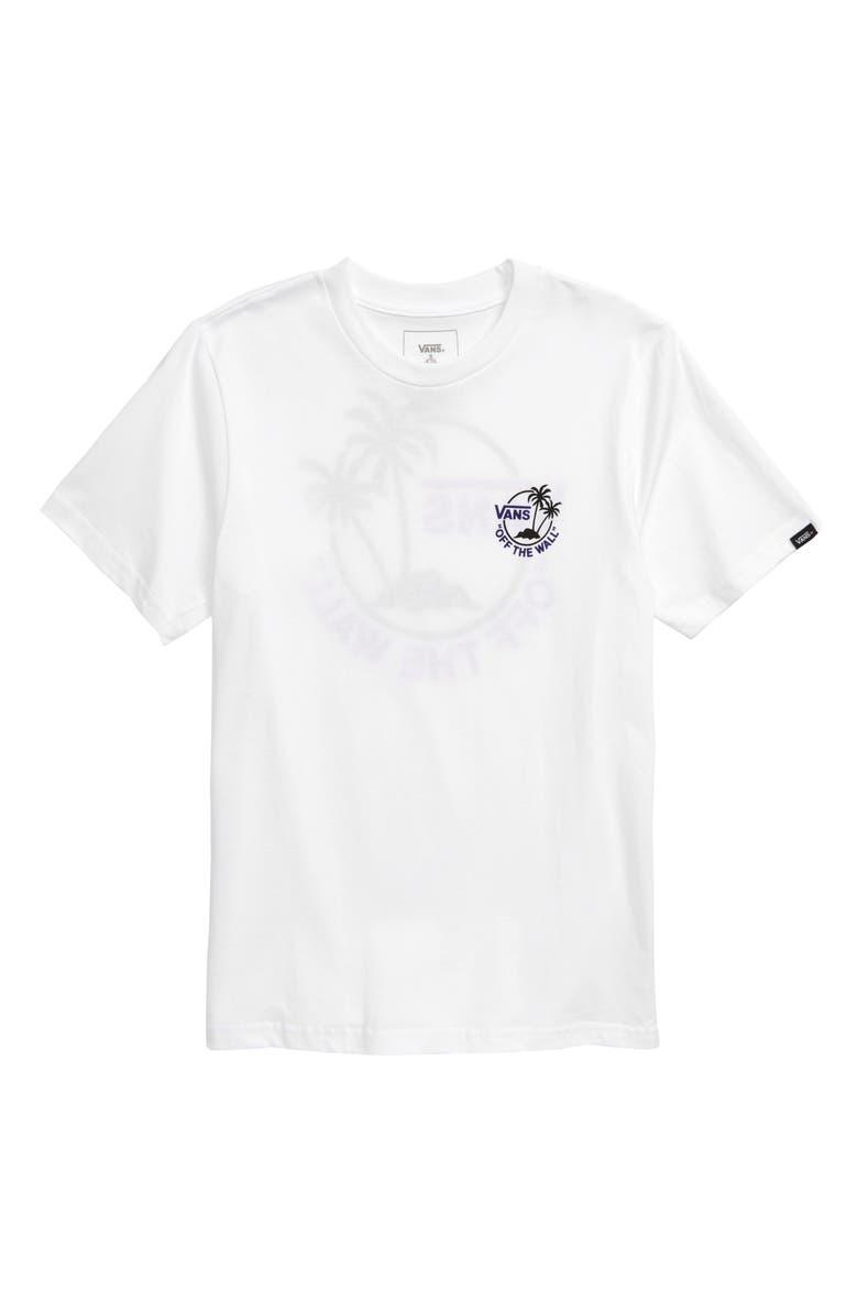 VANS Mini Dual Palm III T-Shirt, Main, color, 100
