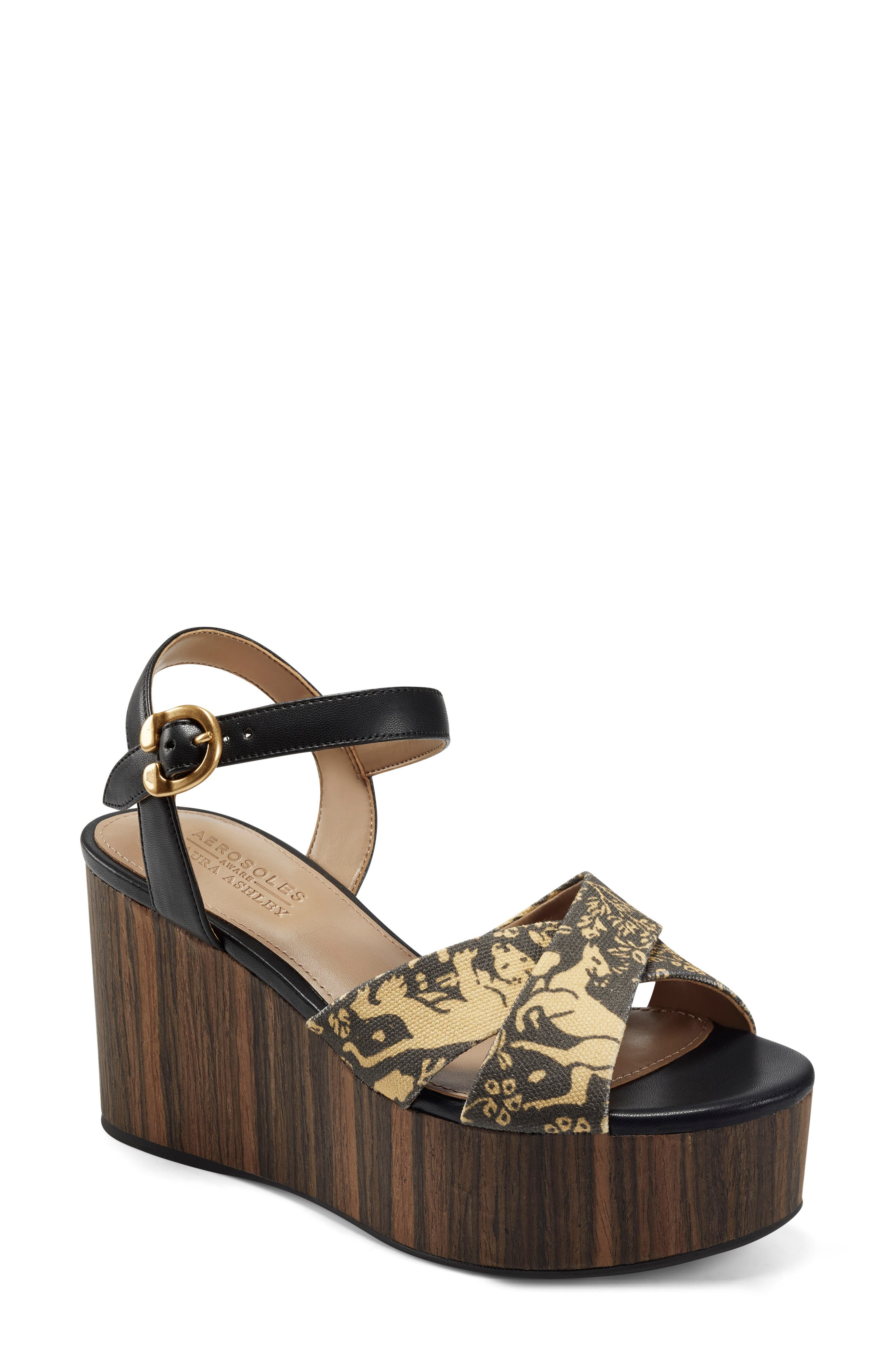 X Laura Ashley Haylee Platform Wedge Sandal